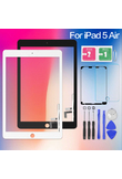 Screen For iPad 5 iPad5 Air 1 Air1 A1474 A1475 A1476 Touch Digitizer Sensor Glass Panel with Home Button Tablet PC Replacement