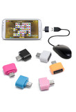 Mini Micro USB To USB OTG Adapter Converter For Android SmartPhone 6 colours