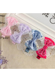 High quality Baby Hair Accessories Children's Cute Lace Bowknot Hair Clips Baby Girl Hairpin Child Hair Bow Ribbon Headdress 0