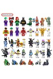 2018 Hot Ninjago Building Blocks toys Compatible legoINGly Ninja Master Wu NYA Mini Bricks figures for kids gifts Free shipping