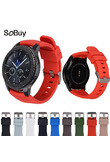 IDG Silicone movement Watchband for Gear S3 Classic/Frontier 22mm Watch Band sports Strap Replacement Bracelet Samsung Gear S3
