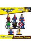 SuperHeroes Building Blocks Batman Iron Man Robin Hulk Spiderman Ninjago Master Wu Compatible With mini LegoINGly Ninja figures