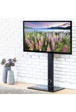 """FITUEYES Universal Swivel TV Stand Base With Mount Height Adjustable for 26"""" To 55""""TV TT106001MB"""