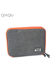 QIAQU Waterproof Ipad Organizer USB Data Cable Earphone Wire Pen Power Bank Travel Accessories Case Digital Gadget Devices Bag