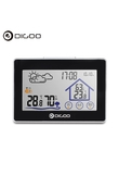 Digoo DG-TH8380 Temperature Sensor Wireless Touch Screen Weather Station Thermometer Outdoor Forecast Sensor Clock for Outgoing