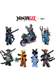 HOT Ninjago Building Blocks Garmadon Set Gamma Sharkman Master Wu NYA LEGOINGLYS Ninja Mini Bricks figures Children Toys zk35