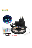 WoodPow 0.5M-5M LED Strip Super Bright 2835 RGB Green Red Blue Warm White Set Non-Waterproof Strips Light Ribbon Flexible 12V DC