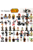 Star Wars Jedi Chewbacca Building Blocks Han solo Darth Vader Mini legoing Figures Jango Fett Obi Wan Models Toys for children