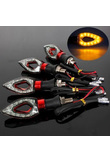12 LED Turn Signal Motorcycle Light Amber Blade Lamp Indicator Blinker Universal Flashing Moto Bike Lights/lamps