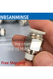 NBSANMINSE Air Pipe Fitting M5 1/8 1/4 3/8 1/2 Male Thread Push In Joint Air Gas Connector Quick Fittings Pneumatic Push
