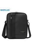 WEPLUS Messenger Bag Men Leather Wateproof Crossbody Bags for Women Men's Shoulder Bag for Ipad Business