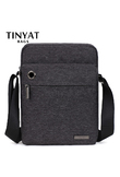 TINYAT Design Casual Man Bag Handbag Brand shoulder crossbody bag for Ipad Waterproof Travel Messenger Bag New Shoulder bag T550