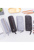 Felt pencil bag fabric pencil case pencil box School Office Supplies Stationery Pouch Purse Storage Cute Makeup Bags Pencil Box