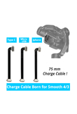 75mm Mini Charge Cable Samsung Type C Cable iphone 6 7 8 x Cable Android Micro USB Cable for Zhiyun Smooth 4 Smooth 3 Gimbal