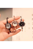 Small fashion women watches 2018 popular brand simple numbers bracelet watch retro ladies quartz wrist watch orologio donna