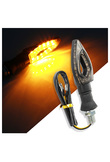 1 Piece 12 LED Motorcycle Turn Signals Light LED Tail Lights Indicator Amber Lamp Bulb for Moto Motorbike Motorcycle Accessories