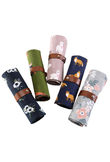 1Pc Cartoon Animals Pencil Case School Canvas Roll Pouch Makeup Brush Pen Storage Pencil Box for Kids Gifts Painting Supplies