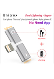 2 in 1 Audio Charging Adaptor dual For Lightning to 3.5mm Earphone Aux Jack Cable Adapter For iPhone 5 6 7 8Plus X Audio/Calling