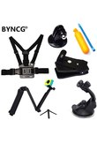 BYNCG for Gopro Hero 6 Accessories Strap for Go Pro Hero4 Hero 12345 Xiaomi Yi Accessories Sport Action Camera Black Edition