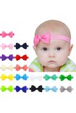 Wholesale&Dropship 17 Colors Headband Solid Candy Color Baby Kids Girls Mini Bowknot Hairband Elastic Headband Hair Accessories