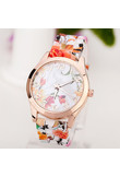 Splendid Silicone Floral Band Watches Women Rubber Strap Watch Reloj Pulsera Mujer Quartz Analog Sports Wristwatch Montre Femme