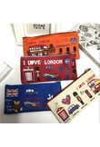 London style Pencil Pen Case Cosmetic Makeup Bag Pouch Holder Women Cosmetic Bags Fresh purse zipper Coin case