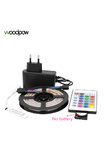Woodpow High Brightness 2835SMD LED Strip 5M 300leds RGB Warm White Blue Set Strip Light Waterproof DC 12V 60leds/m Diode Tape