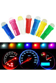 1pcs T5 COB Car dashboard light instrument Automobile Door Wedge Gauge reading lamp bulb Car Styling white blue 12V