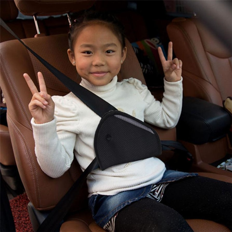 New Triangle Baby Kids Car Safe Fit Seat Belt Adjuster Device Auto Safety Belt Cover Child Neck Protection Positioner Breathable