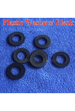 M2 M2.5 M3 M4 M5 M6 M8 M10 M12 Black Plastic Nylon Washer Plated Flat Spacer Seals Washer Gasket Ring O Ring Gasket Washers 1pcs
