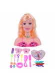21x19cm Half Body Makeup Hairstyle Doll Cosmetic Head Pretend Play Toys Girls Makeup Training Kids Ideal Birthday Gift