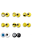 4Pcs/lot Universal Moto Bike Car Tire Valve Cap Wheel Dust Covers Cartoon Smile Face Ball Valve Stems Caps Car Styling