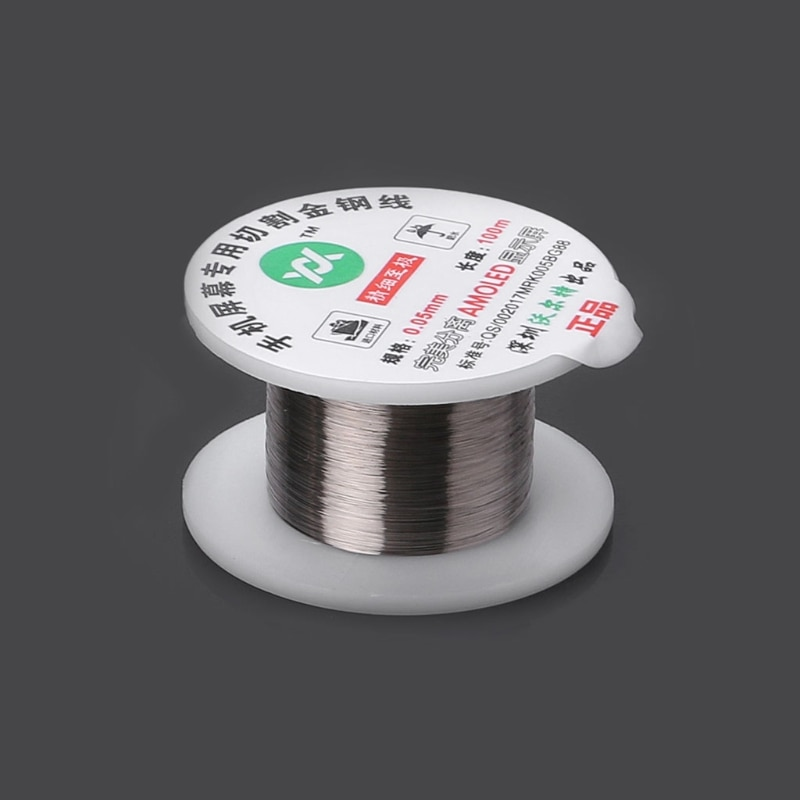 """""""100m Alloy Gold Molybdenum Wire Cutting Line LCD Display Screen Separator Repair Damom"""""""