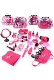 Girls Make Up Set Toys Pretend Play Simulation Cosmetic Bag Beauty Hair Salon Toy Makeup Tools Kit Children Pretend Play Toys