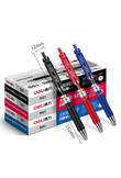 Deli lucky bag cute random 3pcs gel pen for school office stationery supplies red blue black ink students writing pens wholesale