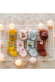 Newborn Baby Girl Kids Cartoon Wool Fuzzy Socks Warm Thick Non-slip Floor Socks Toddler Infant Newborn Soft Winter Leg Warmers