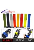 1pcs Reusable Fishing Rod Tie Holder Strap Suspenders Fastener Hook Loop Cable Cord Ties Belt Fishing Accessories YB329
