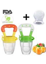 Baby Food Feeder Pacifier Fresh Fruit Feeder Infant Teething Toy Nibbler Teether Pacifier Safe Silicone Pacifier for Baby S M L