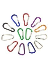 Outdoor Sports Multi Colors Aluminium Alloy Safety Buckle Keychain Climbing Button Carabiner Camping Hiking Hook Tool Sna