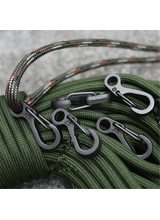 Mini SF Spring Backpack Clasps Rock Climbing Carabiners EDC Keychain Camping Bottle Hooks Paracord Tactical Survival Gear Tools