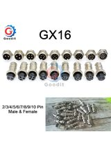 1set GX16 2/3/4/5/6/7/8/9/10 Pin Male & Female 16mm L70-78 Aviation Connector Socket Plug Wire Panel Circular Connector Cap Lid