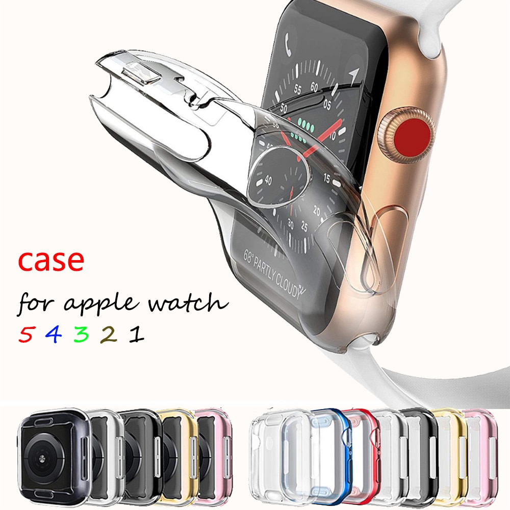 """""""Case For Apple Watch 5 4 3 band apple watch case 44mm/40mm 42mm/38mm iwatch band All-around Ultra-Thin Screen protector cover"""""""