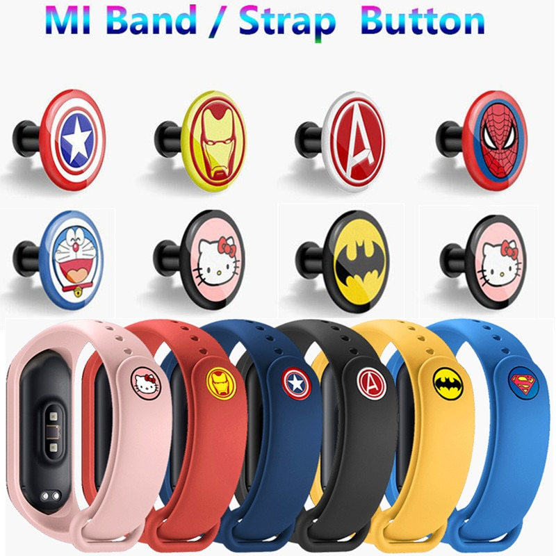"""""""buckle For xiaomi miband 4 Strap Mi Band 4 3 2 1 Strap Pattern button bracelet Miband 4 limited edition wrist strap accessory"""""""