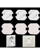 1pcs Baby Safety Rotate Cover 2 Hole Round European Standard Children Against Electric Protection Socket Plastic Security Locks