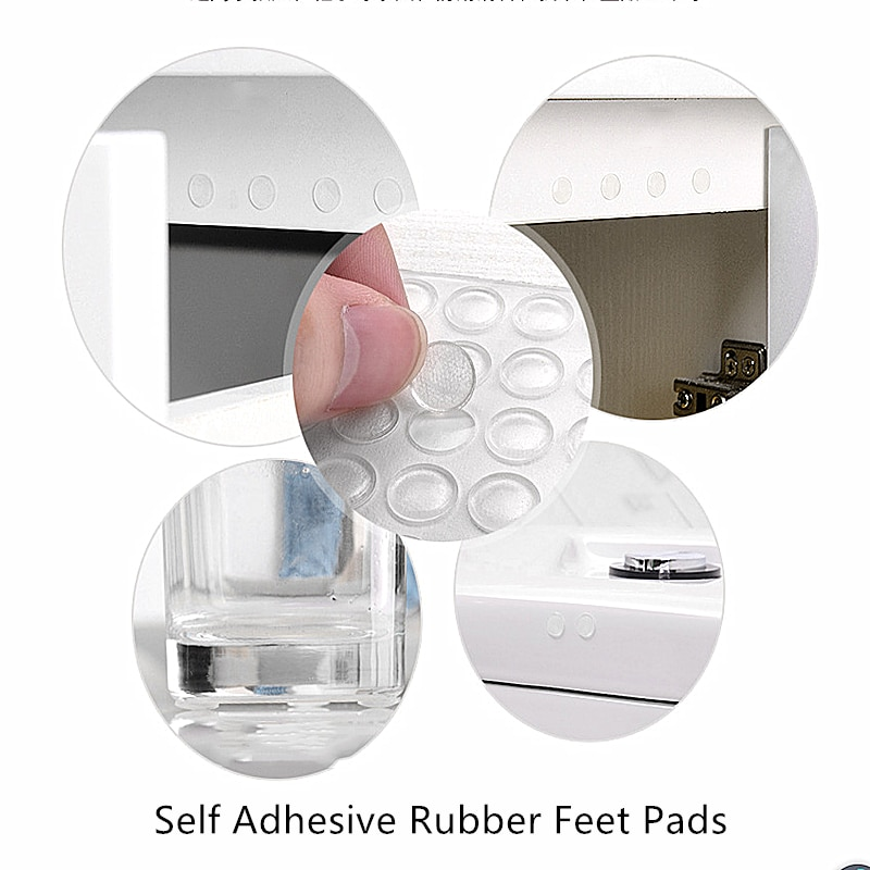 50pcs Self Adhesive Rubber Feet Pads Silicone Transparent Cupboard Door Close Buffer Bumper Stop Cushion for Drawer Cabinet