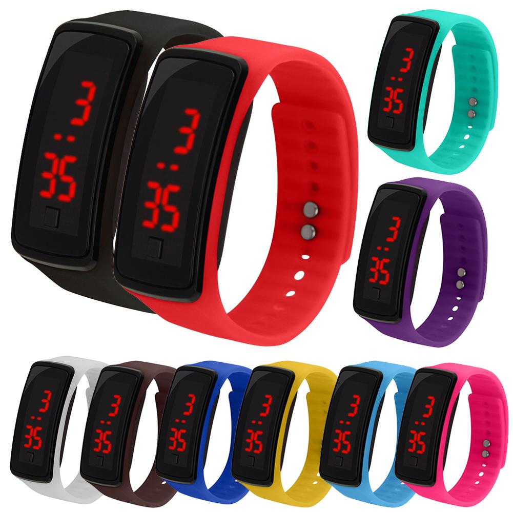 """""""Kids Silicone Adjustable Band LED Screen Electronic Digital Wrist Watch Bracelet Silicone Wrist Watch for Children Kids"""""""