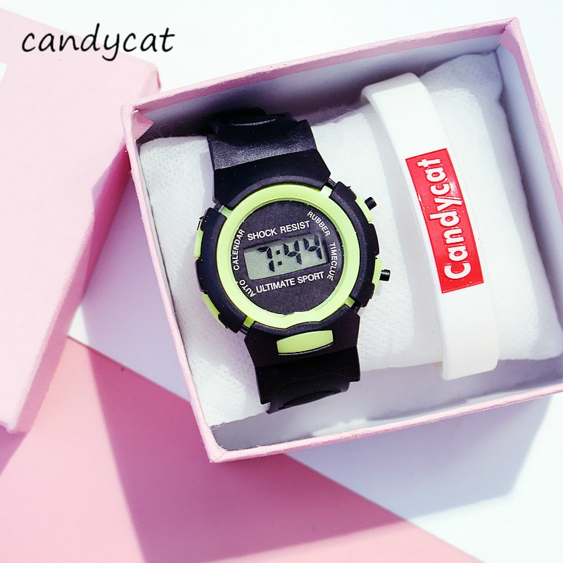 """CandyCat Student Electronic Sports Watch Multifunctional Children's Watch Boy Bracelet Primary and Secondary School Alarm Clock"""