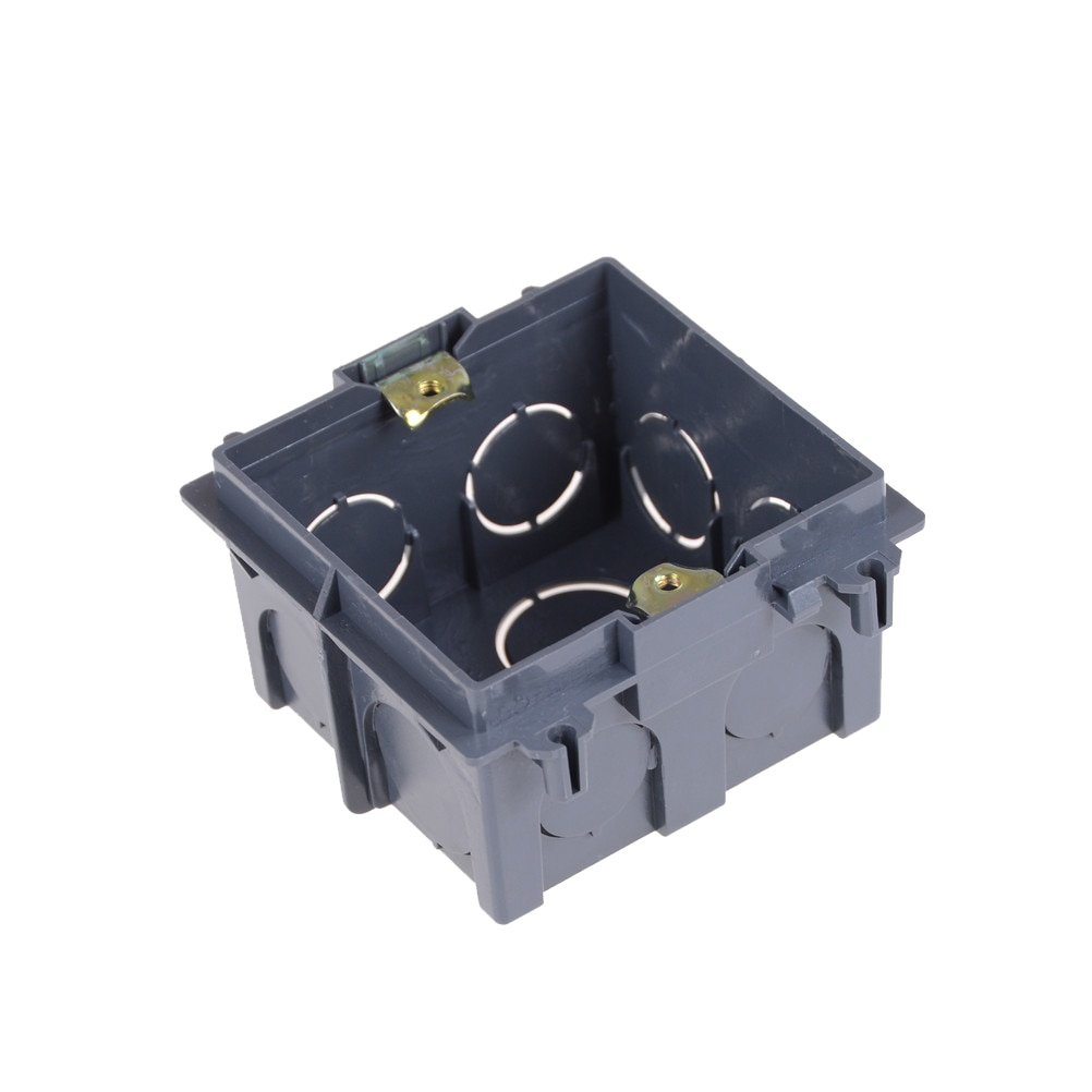 Plastic Wall Plate Wall Mount Junction Box Type 86 Switch Cassette Outlet Wall Switch Box,enclosure Flush Box Black Color