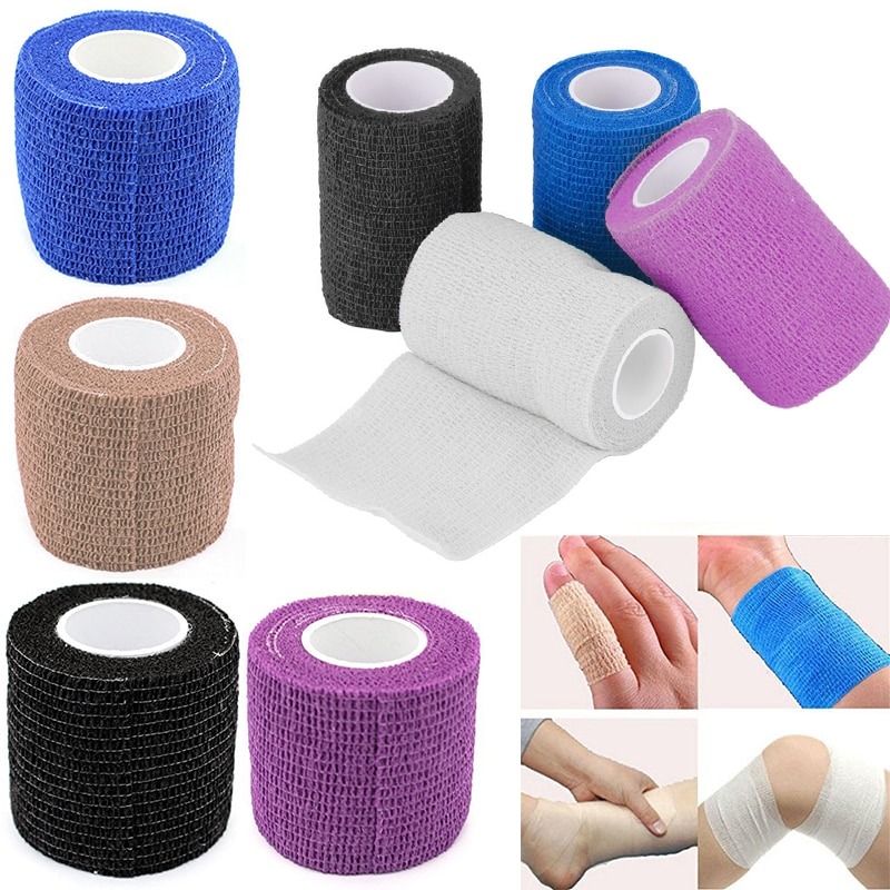 2020 New Self-Adhesive Elastic Bandage First Aid Medical Health Care Treatment Gauze Tape for outdoor Camping TXTB1