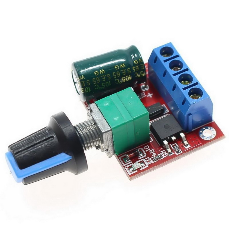 PWM Switch 5A 90W 12V DC Motor Speed Controller Module 4.5V-35V Adjustable Speed Regulator Control Governor Switch